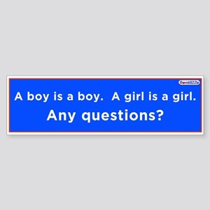 A Boy Is A Boy -A Girl Is A Girl / Lbumper Sticker
