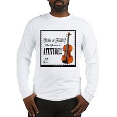 Violin Fiddle String Music Long Sleeve T-Shirt
