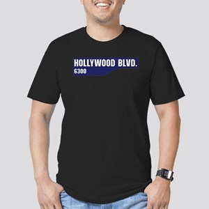 Hollywood Boulevard, L Men's Fitted T-Shirt (dark)