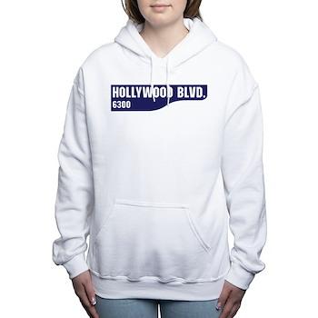Hollywood Boulevard, Los Women's Hooded Sweatshirt