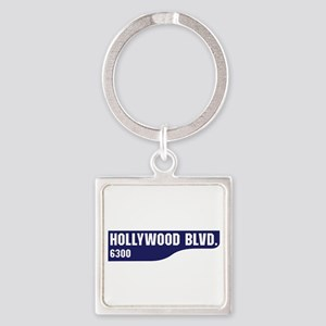 Hollywood Boulevard, Los Angeles, Square Keychain
