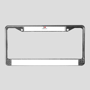 I Love Forestry License Plate Frame