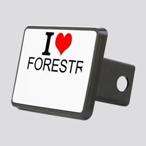 I Love Forestry Hitch Cover