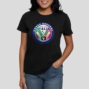 Italian Forza Azzurri Women's Dark T-Shirt