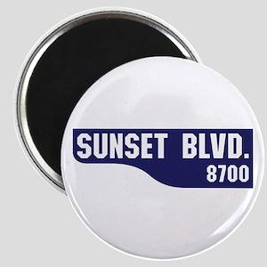 Sunset Boulevard, Los Angeles, CA Magnet