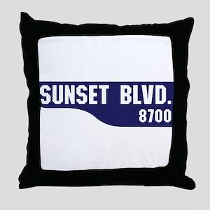 Sunset Boulevard, Los Angeles, CA Throw Pillow