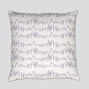 Chicago Purple Lines Everyday Pillow