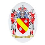 Perrelli Oval Ornament