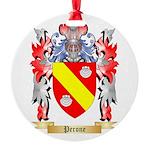 Perone Round Ornament