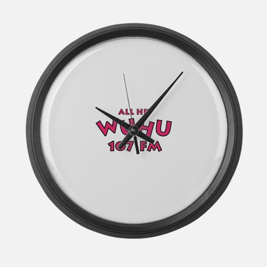 WUHU 107 FM Large Wall Clock