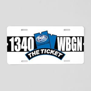 WBGN 1340 Aluminum License Plate