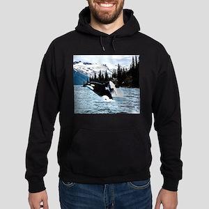 Leaping Killer Whales Hoodie (dark)