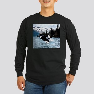 Leaping Killer Whales Long Sleeve T-Shirt