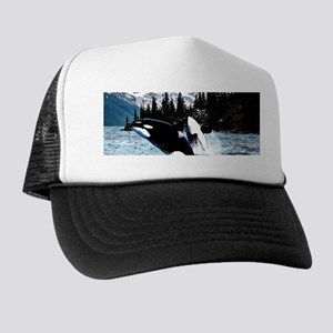 Leaping Killer Whales Trucker Hat