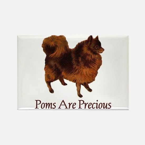 Poms are Precious Rectangle Magnet
