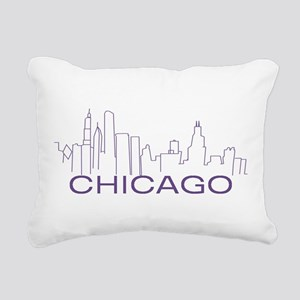 Chicago Purple Line Rectangular Canvas Pillow