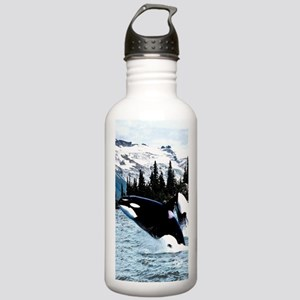 Leaping Killer Whales Stainless Water Bottle 1.0L