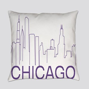 Chicago Purple Line Everyday Pillow