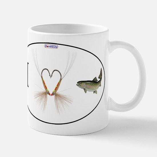 I (fish Hook Heart) Trout / Mugs