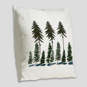 FOREST Burlap Throw Pillow