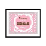 Chocolate Sings Chocolate Text Framed Panel Print