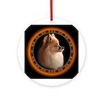 Pomeranian Dog Art Gifts Ornament (Round)