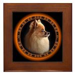 Pomeranian Dog Art Gifts Framed Tile