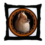 Pomeranian Dog Art Gifts Throw Pillow