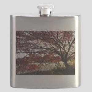 Autum tree Flask