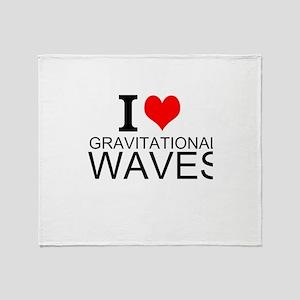 I Love Gravitational Waves Throw Blanket