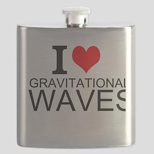 I Love Gravitational Waves Flask