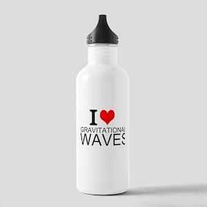 I Love Gravitational Waves Water Bottle