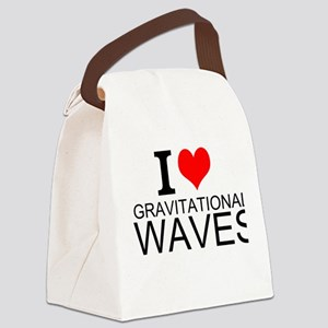 I Love Gravitational Waves Canvas Lunch Bag