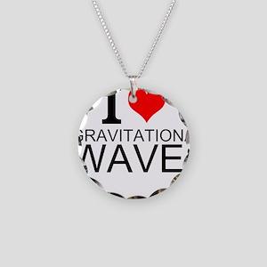 I Love Gravitational Waves Necklace