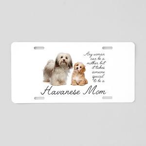 Havanese Mom Aluminum License Plate