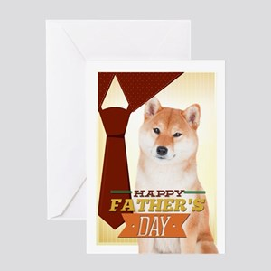 Shiba Inu Father's Day Greeting Cards