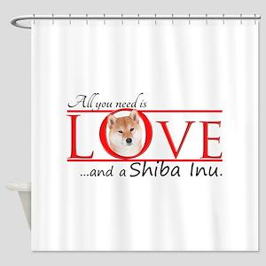 Shiba Inu Love Shower Curtain