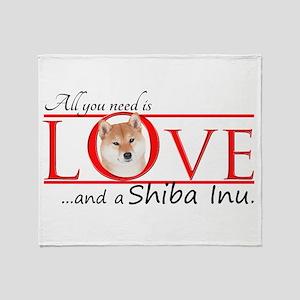 Shiba Inu Love Throw Blanket