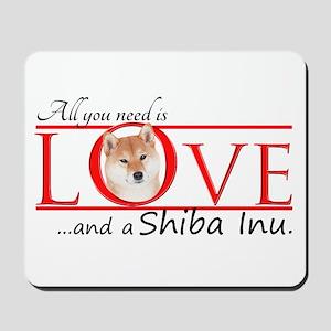 Shiba Inu Love Mousepad