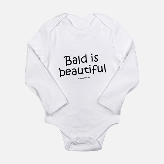Cute Bald Long Sleeve Infant Bodysuit