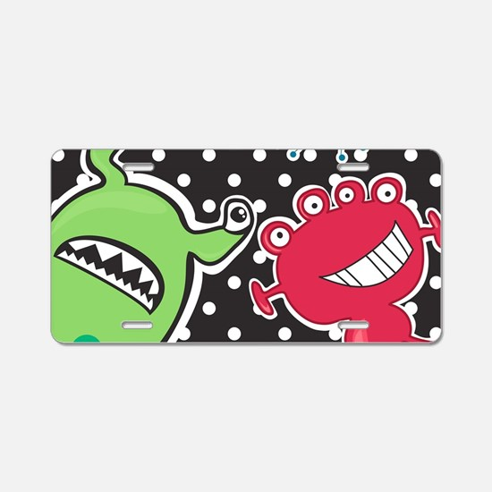 Cute Monsters Aluminum License Plate