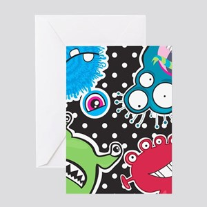 Cute Monsters Greeting Cards