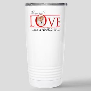 Shiba Inu Love Travel Mug