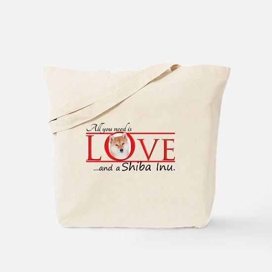 Shiba Inu Love Tote Bag