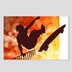 Skateboarder in Air Yello Postcards (Package of 8)