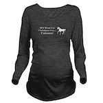 Christmas Unicorn Long Sleeve Maternity T-Shirt