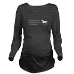 Christmas Unicorn Long Sleeve Maternity T-Shirt