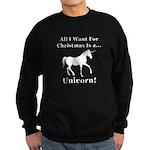 Christmas Unicorn Sweatshirt (dark)