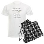 Christmas Unicorn Men's Light Pajamas