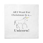 Christmas Unicorn Queen Duvet